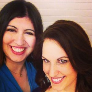 Dawn &  colleague Natalija backstage at Dr. Oz